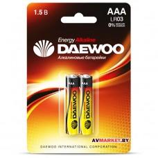 Батарейка AAA  LR03 1.5V alkaline BL-2шт DAEWOO ENERGY 4690601030375 (Россия)