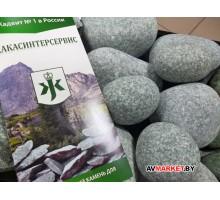 Камень для бани и сауны Жадеит шлифованный 20 кг средний РФ