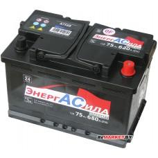 Аккумуляторная батарея ЭнергАсила Standart 75Ah (R+) 680А Беларусь А7568
