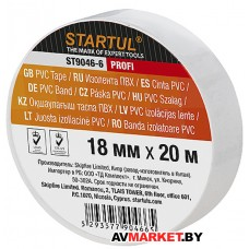 Изолента ПВХ 18мм*20мм белая STARTUL PROFI ST9046-6 Китай