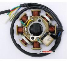 Генератор (статор) скутера 4-такт 150cc 8 катушек