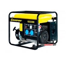 Генератор CHAMPION GG3300(2.6/3кВт OHV6.5л.с.15л46