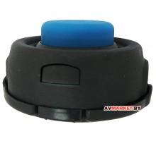 Головка триммерная  синяя кнопка большая LIDER 415