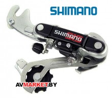 Переключатель задний SHIMANO Tourney RD-TY18 HG 6-7ск крепление на ось серебристый без уп.