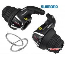Манетки (шифтер) 7/3ск Shimano Tourney SL-RS35 пара лев+прав
