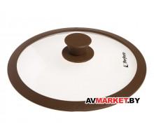 Крышка стеклянная 280мм с силиконовым ободом плоская черная PERFECTO LINEA 25-128010
