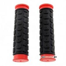 Грипсы (ручка на руль) HW 145267 L-125 (черно-красный)