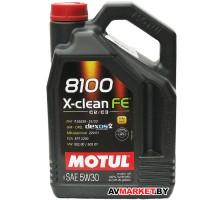 Масло Motul 5W30 (4L) 8100 X-CLEAN FE масло моторное AC Германия