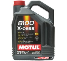 Масло Motul 5W40 (4L) 8100 X-CESS масло моторное API SN Германия