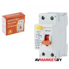 Выключатель дифференциальный (УЗО) BД-63/2P 16А 30мА 6кА тип АС ЮПИТЕР JP7512-16 Китай