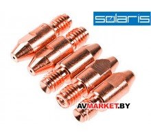 Трубка контактная 1.0мм M8*30мм E-Cu (набор 5 шт) SOLARIS WA-3491 Китай