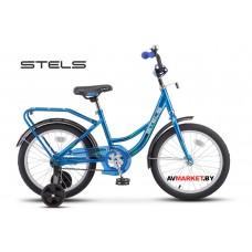"Велосипед 18"" STELS Flute Россия синий"