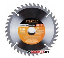 Диск пильный 160*20/16мм 40 зуб по дереву STARTUL ST5061-40 Китай