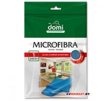 Микрофибра для стекол и зеркал 1 шт DOMI 5027DI