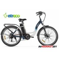 """Велогибрид Eltreco White 26"""" 250W бело-синий Китай 2424"""