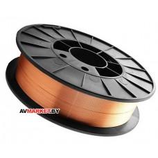 Сварочная проволока 0,8мм E70S-6 Св08Г2С омедненная и полированная, катушка D200 5 кг Беларусь