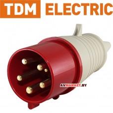 Вилка 025 3P+PE+N 32A 380B IP44 TDM SQ0601-0006