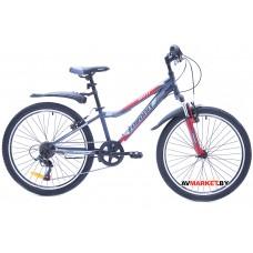 Велосипед  двухколесный FAVORIT модель BULLET 24V, BUL24V.12RD 2019 Китай (серо-красный)