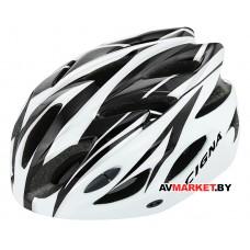 Шлем велосипедный Cigna WT-012 (черный/белый)