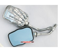 Зеркала мото хром с орлом SLW 0408-94 0408-95 Кита
