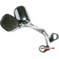 Зеркало вело овальное с отражателем металлич VAL-19964-22 JY-102