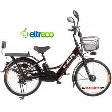 Велогибрид Eltreco e-Alfa (brown-0210) Китай
