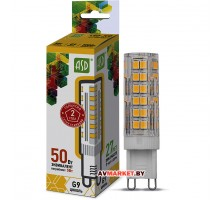 Лампа светодиодная JCD 5Вт 160-260В G9 3000К ASD (4690612004594)