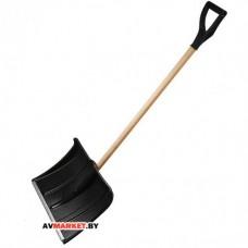Лопата снеговая пластм. 500*375 мм с дер. черенком STARTUL PROFI (ST9061-3)