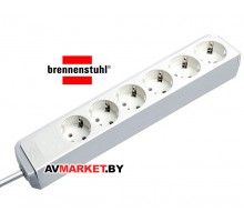 Удлинитель 1,5м (6 роз 3,3кВт с/з ПВС) белый Brennenstuhl Eco-Line арт. 1159420015 Китай