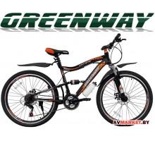 """Велосипед GREENWAY 26S020, 26"""" черно-оранж. горный для взрослых Китай"""
