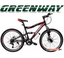 """Велосипед GREENWAY 26S020, 26"""" черно-красный горный для взрослых Китай черно-красный"""