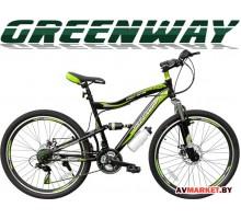 """Велосипед GREENWAY 26S020, 26 """" черно-салатовый горный для взрослых Китай"""