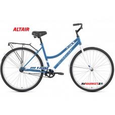 """Велосипед ALTAIR CITY 28 low (28"""" 1ск рост 19"""") жен голубой/белый RBKT1YN81010 2020-2021"""
