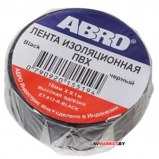 Изолента ABRO-M черная