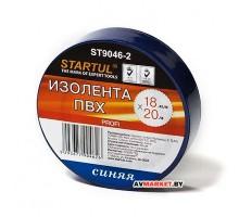 Изолента ПВХ 18мм*20мм синяя STARTUL PROFI (ST9046-2) арт ST9046-2 Китай