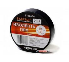 Изолента ПВХ 18мм*20мм черная STARTUL PROFI