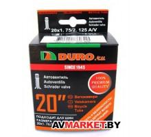 "Камера 20"" DURO 20*1,75 A/V клапан чер инд.уп"