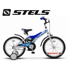 """Велосипед 18"""" STELS JET бело синий"""