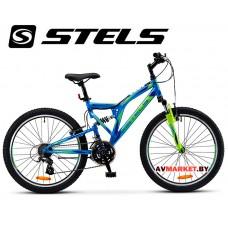 Велосипед 24 STELS MUSTANG V Россия синий