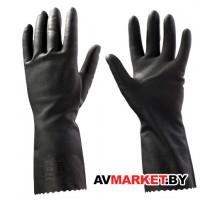 Перчатки КЩС из латекса защитные промышленные р-р 8/M черные JetaSafety JL711M
