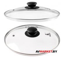 Крышка стеклянная 260мм с металлическим ободом круглая мраморная PERFECTO LINEA 25-026020 Китай