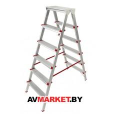 Лестница-стремянка алюм. двухсторонняя 132 см 6 ступ. 5,0кг PRO STARTUL ST9941-06