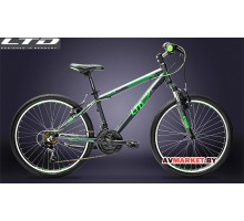 Велосипед LTD Bandit 24 черно-салатно-серый YS7782 MATT/YS886