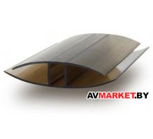 Соединительный неразъёмный профиль 6 мм бронза 6000 мм