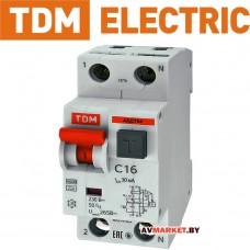 Дифф. автомат. выкл. АВДТ 64 С16 30мА TDM SQ0205-0004 Китай