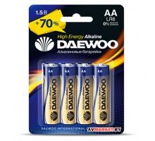 Батарейка AA  LR6 1.5V alkaline BL-4шт DAEWOO HIGH ENERGY 4895205006812