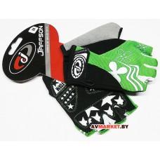 Перчатки JAFFSON SCG 47-0122 M (черный белый зеленый) 5069